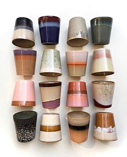 ceramic 70's mug: Bark-5