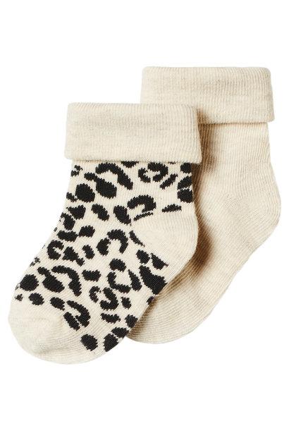 sokken 2-pack oatmeal
