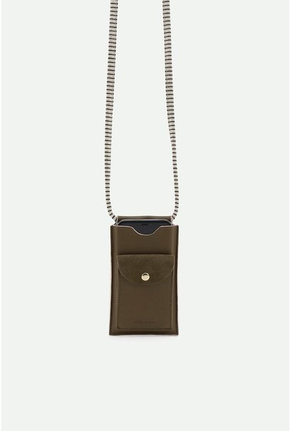 Phone pouch olive green