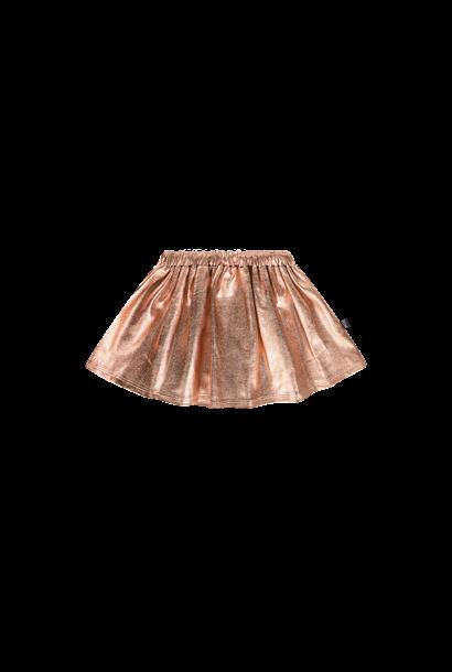 metallic skirt, rose gold metallic