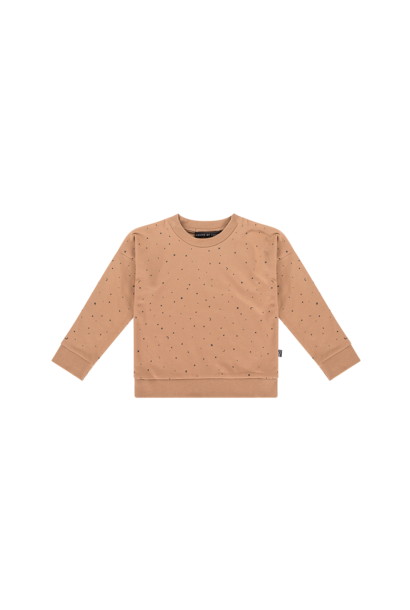 crewneck sweater, little stars mocca