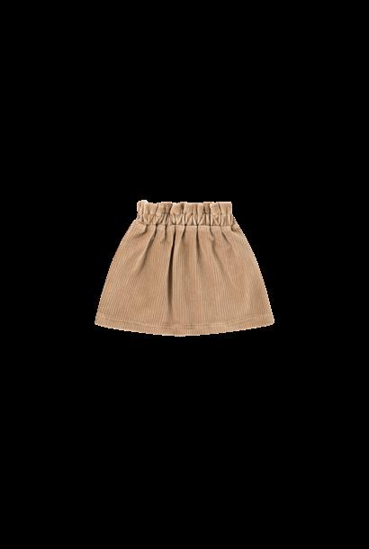 paperbag skirt, biscuit rib velvet