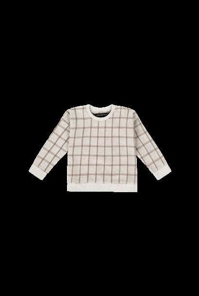 crewneck sweater, tartan stone