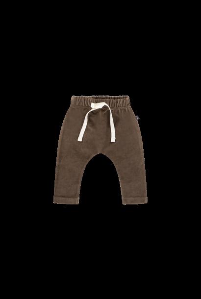 baby pants, smoked choco velvet