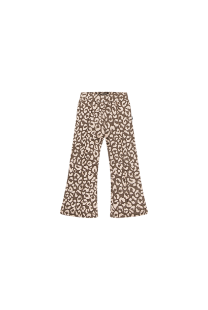 flared pants, rosewood leopard