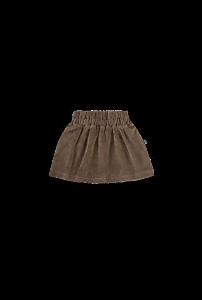 paperbag skirt, smoked choco velvet