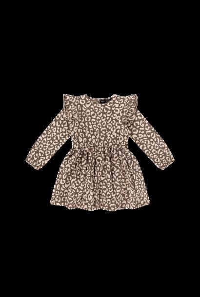 girls dress, rosewood leopard