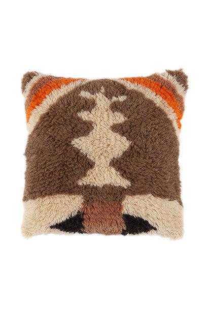 Vintage noon wool cushion 50x50 cm orange