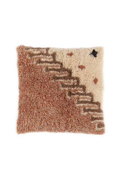 Vintage noon wool cushion 50x50  cm diagonal