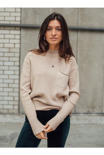 Kyra pocket knit, Cream