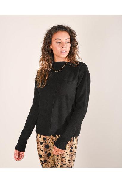 Kyra pocket knit, Black