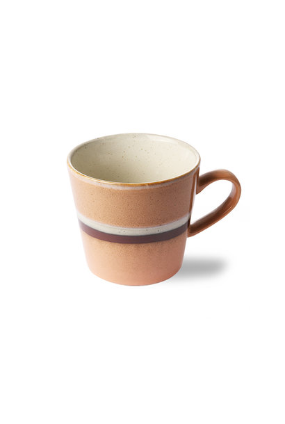 Ceramic 70's cappuccino mug, stream