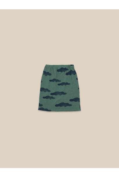 Clouds all over skirt