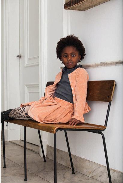 Girls Rompersuit: Terra blush velvet