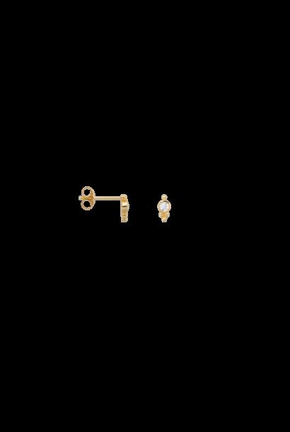 Single bindi stud zirconia, silver goldplated