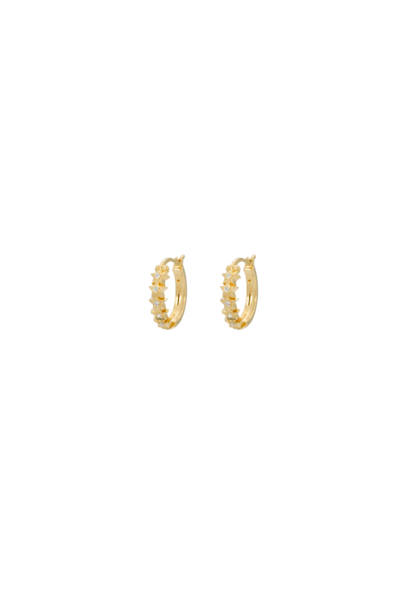 Starry ring earrings, silver goldplated
