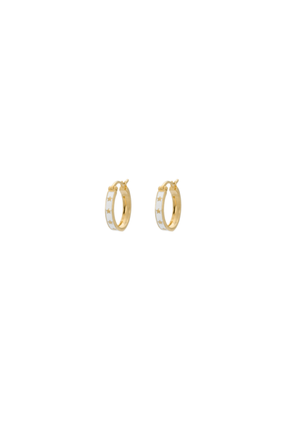 Midnight ring earrings, silver goldplated