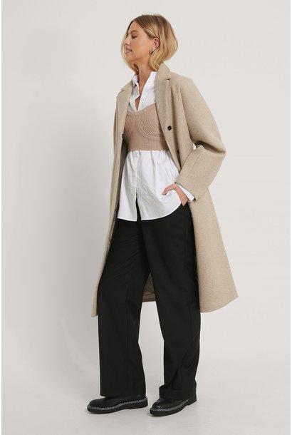 Shaped waist coat beige/grey
