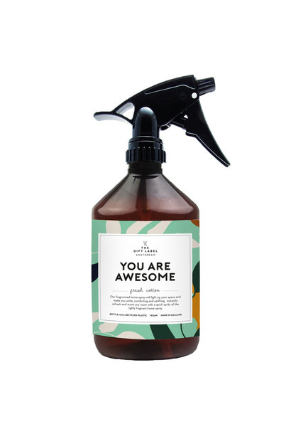 Room spray, 500ml, You are awesome, Jasmine vanilla