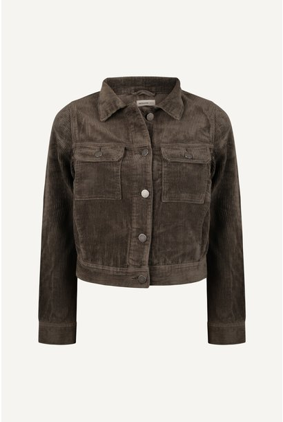 Cord jacket - Olive