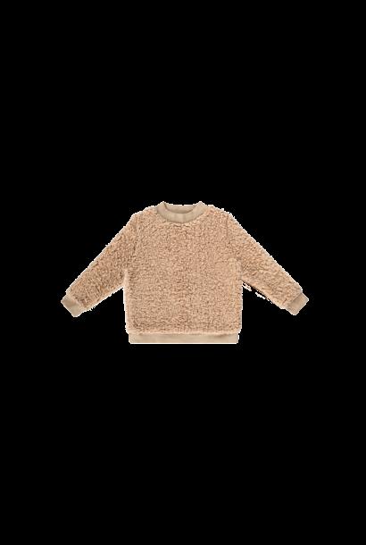 Teddie crewneck sweater, oatmeal
