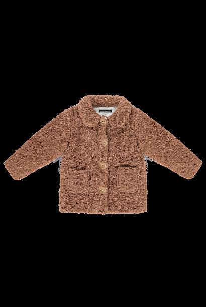 Teddie collar coat - Hazel