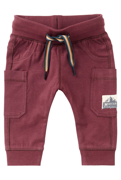 Slim fit pants venterstad, dusty red