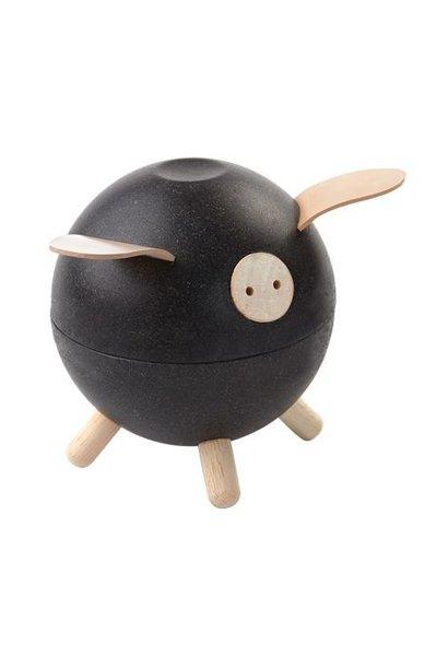 spaarpot varken, zwart