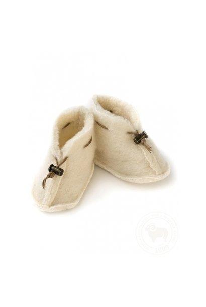 Babyslofjes emo wool - Natural