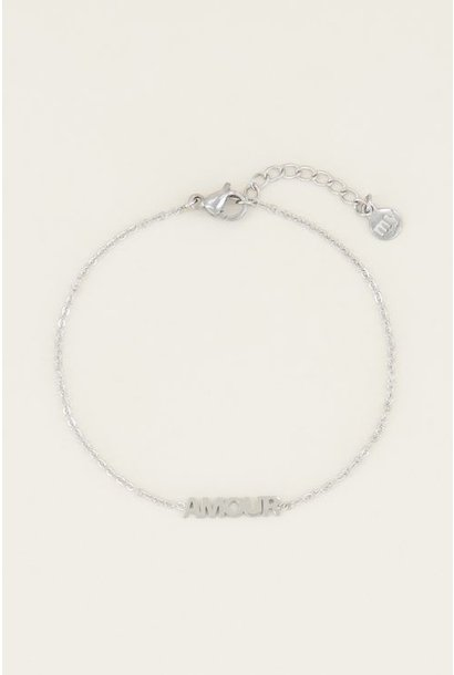 Armband amour, Zilver