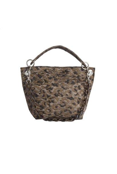 Handtas met luipaard print