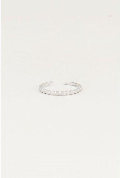 Ring kleine rondjes, Zilver