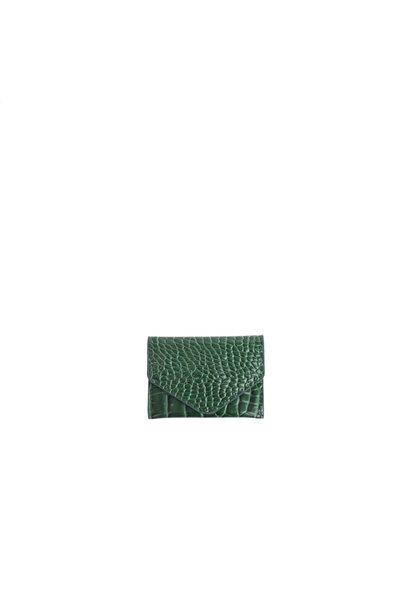 Wallet croco 127 Pine green