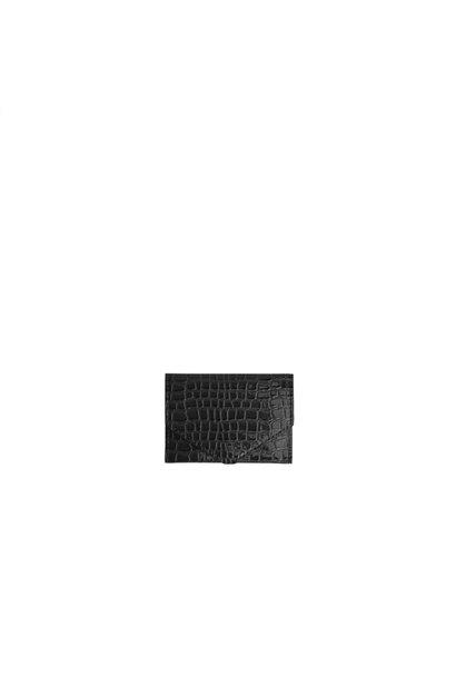 Wallet croco 009 Black