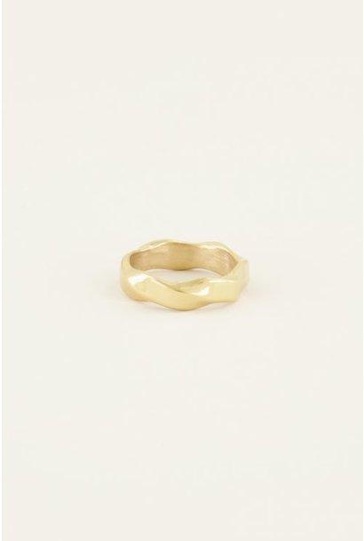 Gedraaide ring, goud