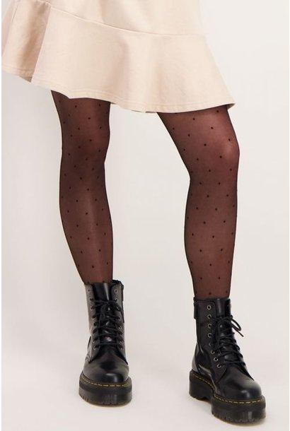 Panty met stippen - Zwart