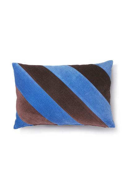 Striped cushion velvet blue/purple 40x60cm