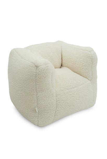 Fauteuiltje beanbag teddy cream white