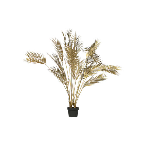 WOOOD Palm Kunstplant Goud 110cm