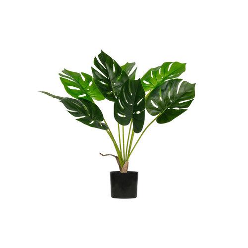 WOOOD Monstera Kunstplant Groen 70cm