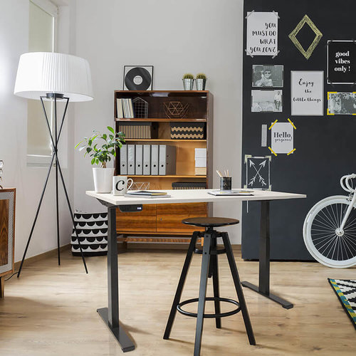 Elektrisch zit-sta bureau Dextro Plus  Wit onderstel