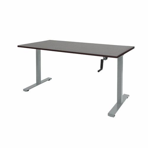 Dextro zit-sta bureau met slinger en  aluminium onderstel
