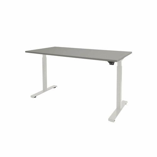 Elektrisch zit-sta bureau Dextro Basic Aluminium