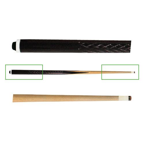 1 delige keu van ramin hout. Voorzien van een schroefpomerans pvc 12 mm.