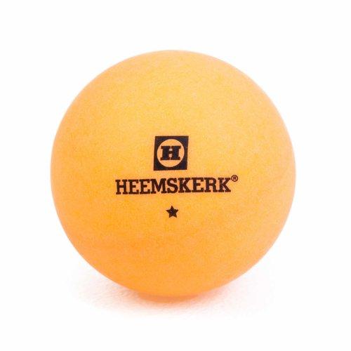 Tafeltennisballetjes van Heemskerk. De 1 ster bal is geschikt voor trainingen, particulier en recreatief gebruik.