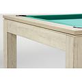 De pooltafel Charme is een meubel met nauwkeurige afwerking. Het frame van de tafel is volledig gemaakt van MDF met een laagje UV bestendige melamine die de tafel beschermt tegen zonlicht en krassen.