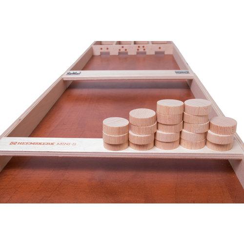 Heemskerk Mini sjoelschijven set, bestaande uit 20 stuks rechte schijven.