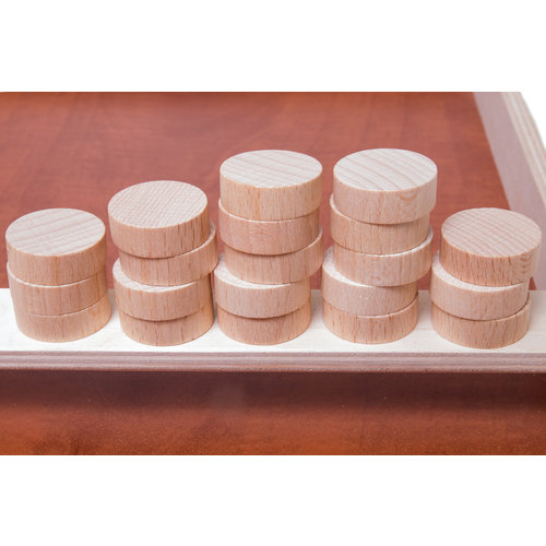 Heemskerk Heemskerk Mini sjoelschijven set, bestaande uit 20 stuks rechte schijven.