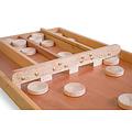 De Heemskerk HS-30 Blank Sjoelbak is een sjoelbak vervaardigd uit duurzame houtsoorten als Abura (zijkanten), Beuken (poortenbalk) en Meranti (bodem).