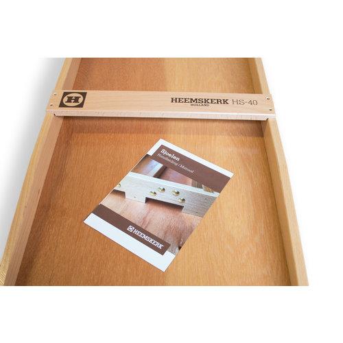 Originele handvervaardigde Heemskerk sjoelbak van zware kwaliteit, uitgevoerd  in wedstrijdformaat.